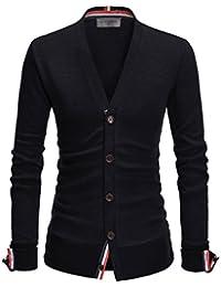 NEARKIN City Casual Mens Knitwear Casual Shawl Collar Cardigan Sweaters