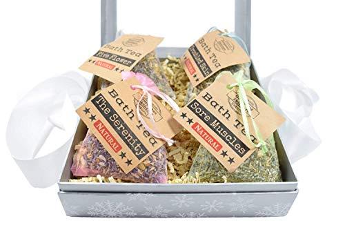 Gift Box Set Bath Tea Gift Basket, Bath Tea Bags Sets, Bath Tea Gift Baskets, Bath Tea Gift Set, Bath Tea Set, Bath Teas, Tub Tea, Bath Soak