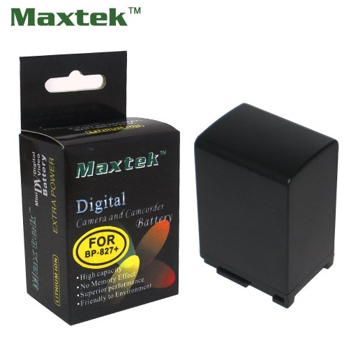 - Maxtek 4.5hr Rechargeable Battery For Canon BP-827 BP827(Extended Capacity of BP-808 809 819) HF10 HF1 HF100 HF20 HF200 S10 HG20 HG21 HG30. Made with Info-Chip, Use same as original OEM. Shows time on LCD and charges by camcorder!