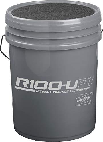 Rawlings 6 Gallon HS Raised Seam Ball/Bucket Combo Includes 24 R100-UP1 Baseball ()