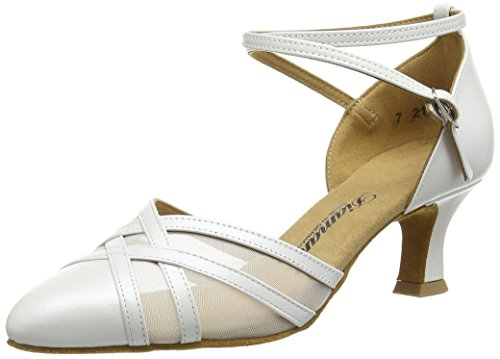 Dance 147 Shoes Perlato Weiß Women's 068 White Diamant Ballroom 391 Off d1wXXBq