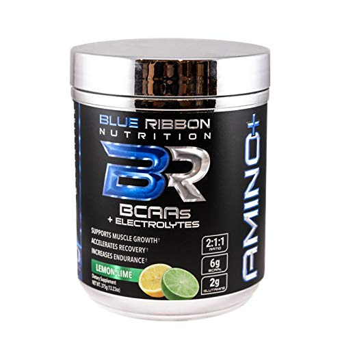 Amino , BCAA Powder Drink Supplement, Branched Chain Amino Acids with Glutamine, Electrolytes, Citrulline. Improve Recovery, Hydration, Muscle Growth – 30 Servings – Lemon-Lime