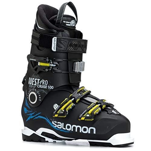 Salomon Quest Pro Cruise Ski Boots Black/Indigo Blue/White Mens Sz 9/9.5