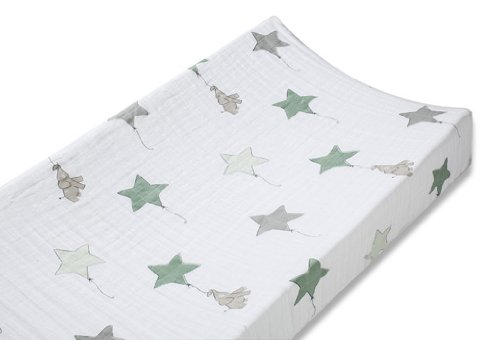 aden + anais classic changing pad cover, up, up & away - ele