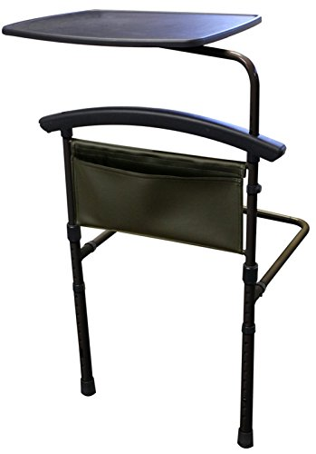 Stander-Independence-Bed-Table-Home-Adult-Safety-Bed-Rail-Support-Handle-Overbed-Table-Swivel-Tray-Pouch