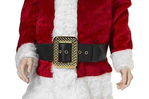 Forum Novelties Men's Deluxe Adult Santa Belt Costume Accessory, Black, One Size]()