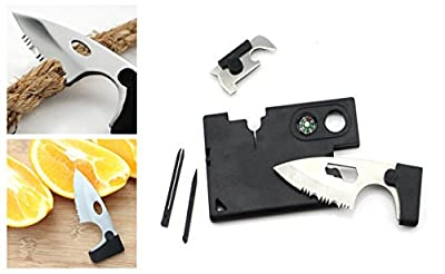 Pocket Knife Credit Card Companion Survival Kit with 9 Essential Tools from Digital Arts Limited