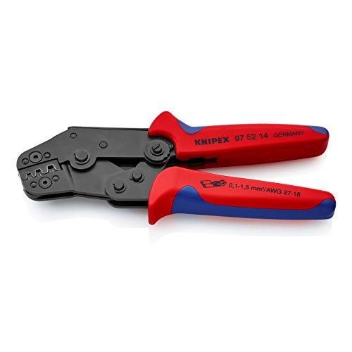 Knipex 97 52 14 Crimping Pliers for non-insulated open plug type connectors by KNIPEX Tools