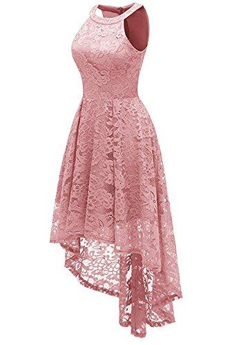 ... MisShow Abendkleid Kurz Neckholder Kleid Vorne Kurz Hinten Lang  Cocktailkleid Festliches Spitze Kleid S-XXL ... 45bc9a3699