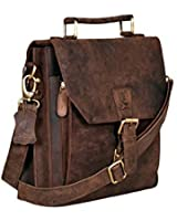 Cuero BC26548 12-Inch Satchel Laptop Messenger Leather Bag