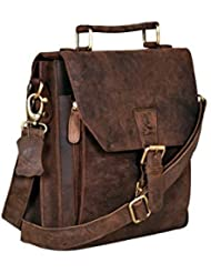 Cuero Leather Messenger Satchel Laptop Messenger Bag Leather Briefcase Shoulder Mens Bag Leather Laptop Bag for...