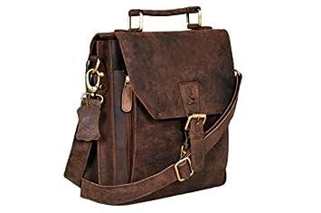 Amazon.com: Cuero BC26548 12-Inch Satchel Laptop Messenger Leather ...