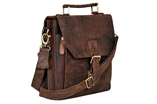 Cuero Leather Messenger Satchel Laptop Messenger Bag Leather Briefcase Shoulder Men's Bag Leather Laptop Bag for Men and Women's