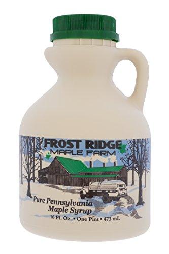 Pint Maple Syrup Jug - Frost Ridge Maple Farm, Organic Maple Syrup, Grade A, Pint (16 FL Oz), Dark Robust (formerly Grade B)