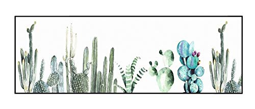 KADECOR - Giclee Print Cactus Wall Art Canvas - Black Color L-Shape PS Frame - Glossy Polyester - 16