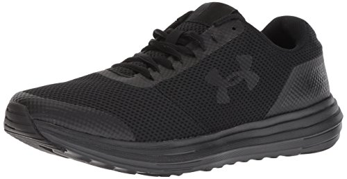 Under Armour Men's Surge Running Shoe, Black (006)/Black, 12