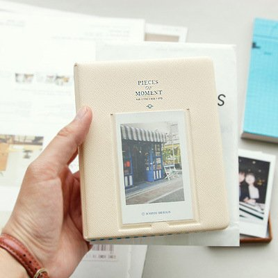 EProsperous Compatible Pieces Of Moment Book Album for Films of Fujiflm Instax Mini 8 7s 70 25 50s 90 (64 Pockets, Beige) ()