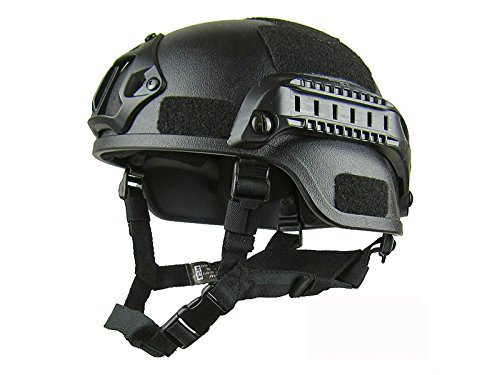 Yunqir-Black-Adult-Light-Weight-Cycle-Helmet-for-Bike-Riding-Safety-CS-and-Tactics-Helmet-One-size