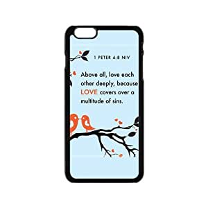 Bible Verse - Above all, love each other deeply, because love covers over a multitude of sins. I Peter 4:8 pattern for black plastic iphone 5s case (4.7 inch)