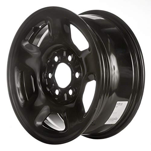 Multiple Manufactures STL03518U45 Black Wheel with Painted and Meets All Federal Motor Safety Standards (17 x 7.5 inches /6 x 135 mm, 44 mm Offset)