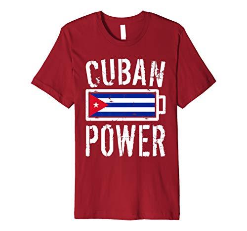 Cuba Flag T-Shirt | Cuban Power Battery Proud - Baseball Cuba Jersey