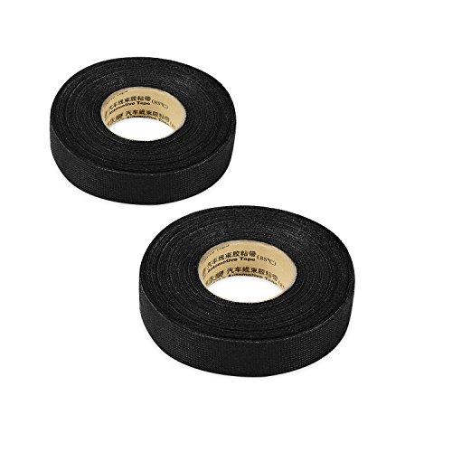 2pcs Wiring Loom Harness Adhesive Cloth Fabric Tape 19mm/15m