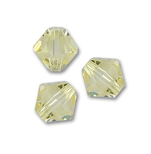 100pcs x Genuine Preciosa Bicone Crystal Beads 4mm Jonquil Alternatives For Swarovski #5301/5328 #preb409