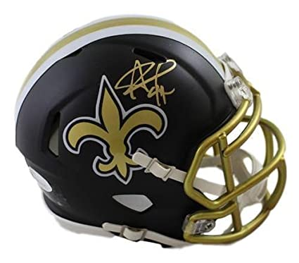 4e1aaf49 Amazon.com: Signed Alvin Kamara Helmet - Riddell Blaze Mini 21379 - JSA  Certified - Autographed NFL Mini Helmets: Sports Collectibles