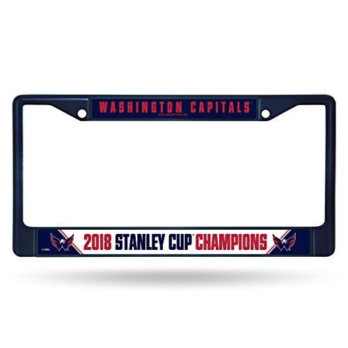 - Rico Washington Capitals 2018 Stanley Cup Champions Midnight Blue Chrome License Plate Frame