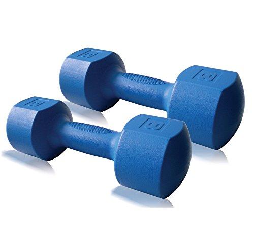 CAP Fitness 6 / 10 / 16 lb ECO Dumbbell Pair, Dumbbell set, Dumbbell weights, ECO Dumbbells (16)
