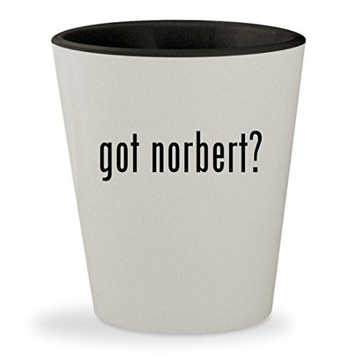 got norbert? - White Outer & Black Inner Ceramic 1.5oz Shot Glass (Glas-leser)