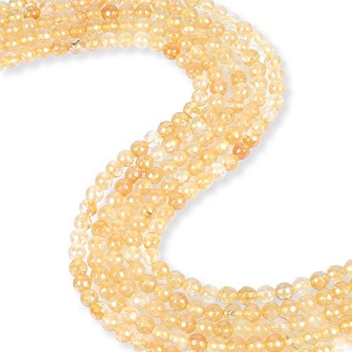 (Citrine Smooth Round Cut 6mm Beads 15-16