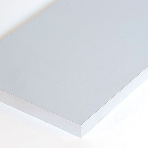 Box of 4 New Gray Melamine Shelf Measures 3/4''-thick 10'' x 48'' by Melamine Shelf
