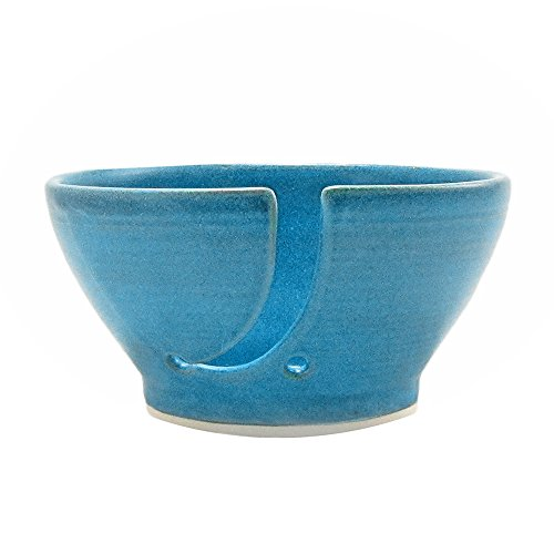 Saultman Design Handmade Knitting Yarn Bowl Blue Green