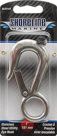 Shoreline Marine SL52155-X 4-Inch Utility Eye Hook, Stainless Steel
