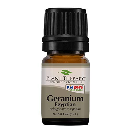 Plant Therapy Geranium Egyptian Essential Oil | 100% Pure, Undiluted, Therapeutic Grade (1/6 ounce)