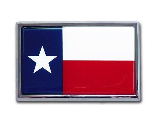 TX Texas State Flag Chrome Auto Emblem Chrome Auto Car Emblem