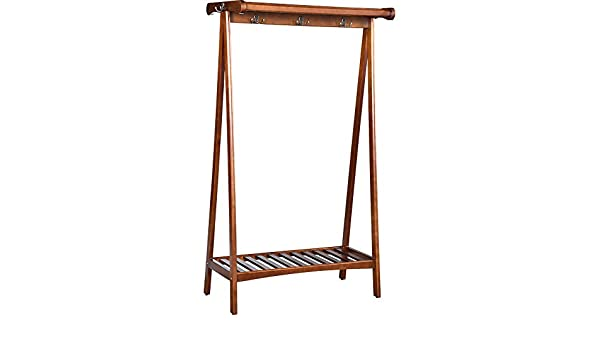 XX wooden clothes rail XiaoXIAO Perchero de Madera, Perchero ...