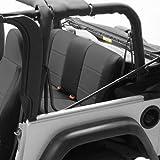 Coverking Custom Fit Seat Cover for Jeep Wrangler TJ 2-Door - (Neoprene, Black/Charcoal)