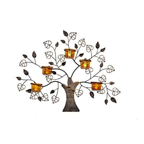 Dinazah Decorative Wall Art Tree Candle Holder Bes big image
