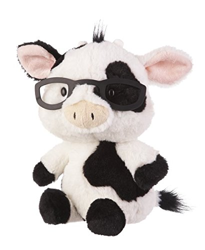 G Ganz Baby Plush Stuffed Animal 11 inches Spectimals Cow with Glasses Toy