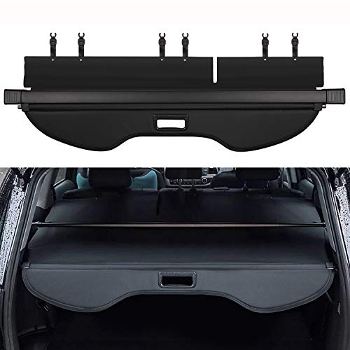 (E-cowlboy (Upgrade Version) Black Retractable Rear Trunk Cargo Luggage Security Shade Cover Shield for Ford Escape 2013-2019 (Updated Version:There is no Gap Between The Back Seats))