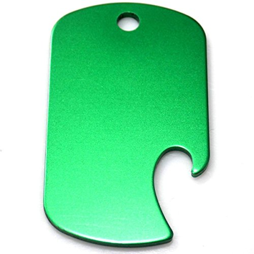 Green Dog Tag GI Military Vet POW Key Chain Aluminum Bottle Opener ACC-0038 - Acc Key
