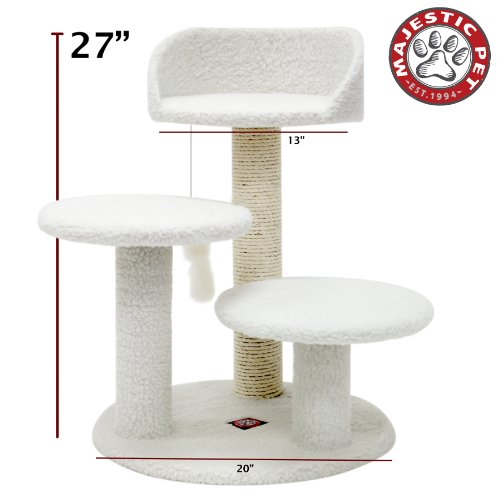 Majestic Pet Products 27 inch Cream Bungalow Cat Furniture C