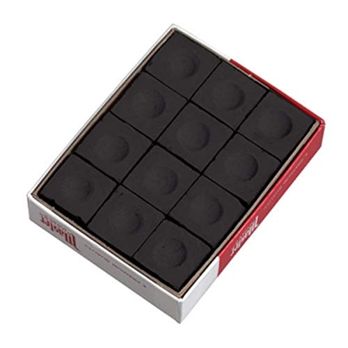 Cue Chalk Box, 12 Cubes, Black ()