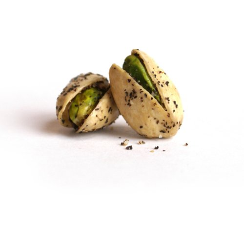 The Gilded Nut - Sea Salt & Pepper Pistachios, In Shell, Seasoned & Roasted - 2.25 oz (Pack of 6)
