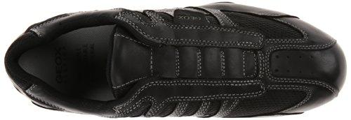 Geox Mens Snake 97 Fashion Sneaker Black / Lead