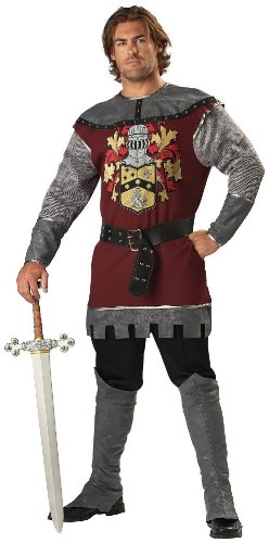 InCharacter Costumes Men's Noble Knight Costume, Silver/Burgundy, Medium -