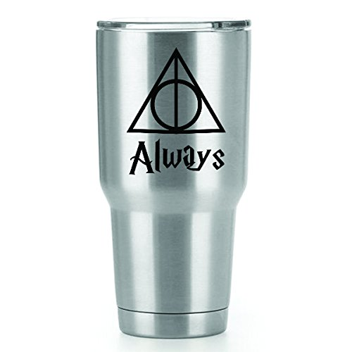 Always Harry Potter Vinyl Decals Stickers ( 2 Pack!!! ) | Yeti Tumbler Cup Ozark Trail RTIC Orca | Decals Only! Cup not Included! | 2 - 3 X 2.3 inch Black Decals | KCD1168
