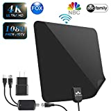 【2019 Latest】 HDTV Antenna Indoor Digital TV Antenna, Dumsamker 120+ Miles Range HD